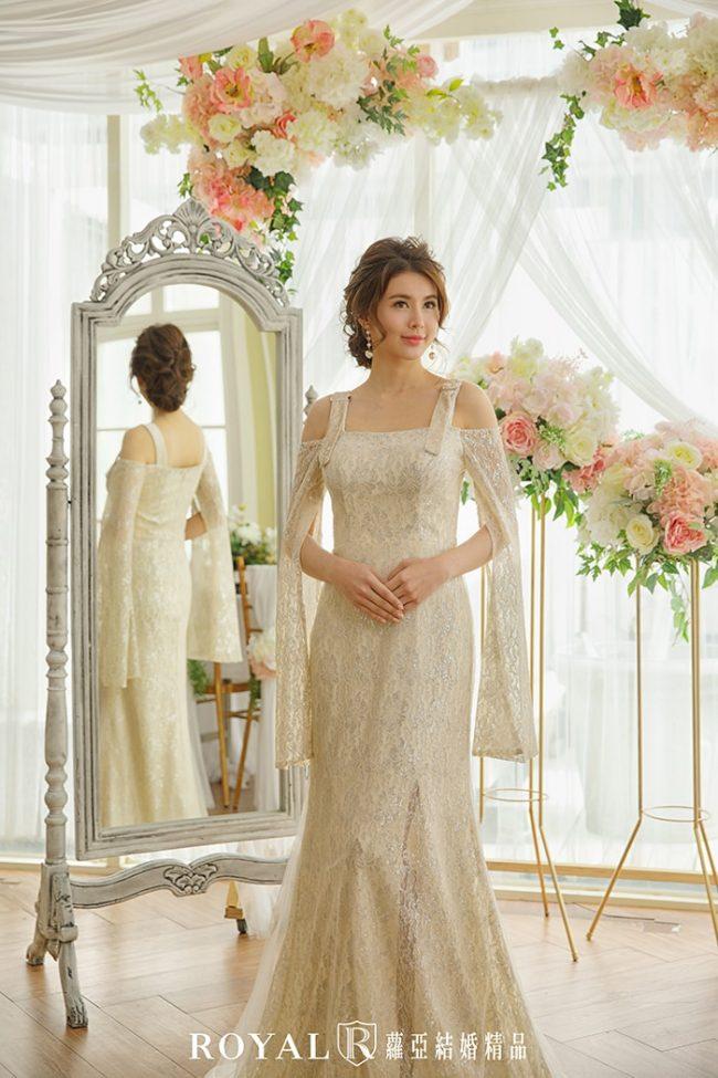 婚紗禮服款式-特殊袖型-水袖婚紗禮服-時裝款式-婚紗禮服2020
