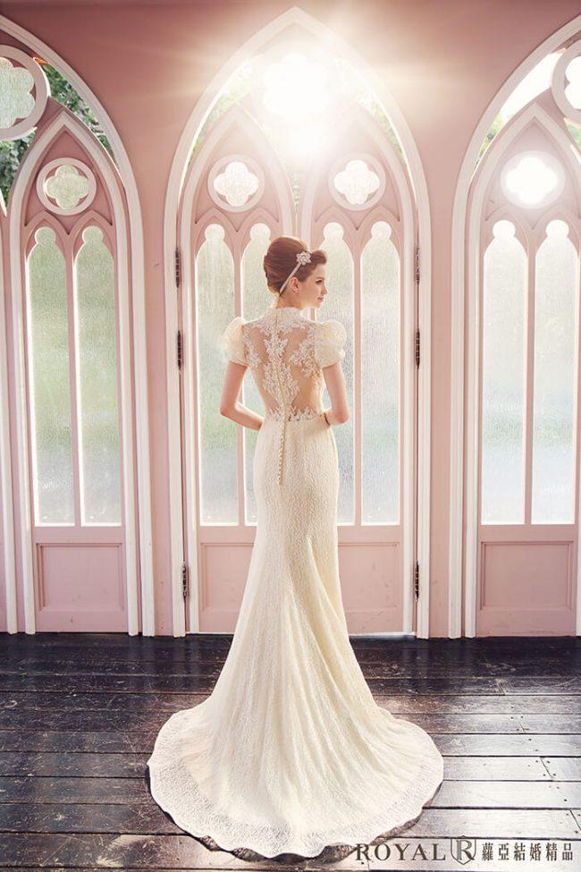 婚紗禮服款式-特殊袖型-魚尾婚紗-古典婚紗-手工婚紗