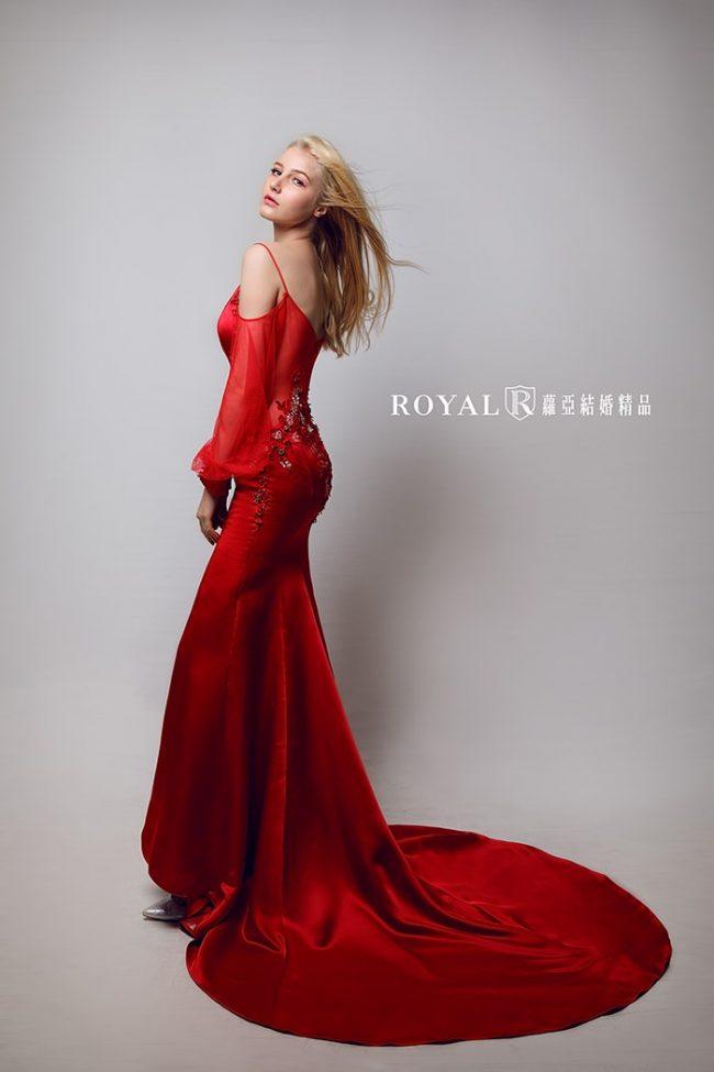 婚紗禮服款式-特殊袖型-魚尾婚紗-婚紗款式2020-手工婚紗