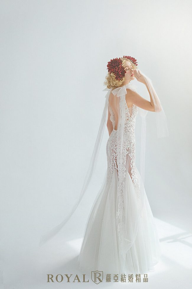 婚紗禮服款式-特殊袖型-魚尾婚紗-手工婚紗-婚紗禮服2020
