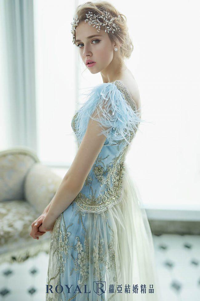 婚紗禮服款式-特殊袖型-aline婚紗-婚紗款式2020-手工婚紗