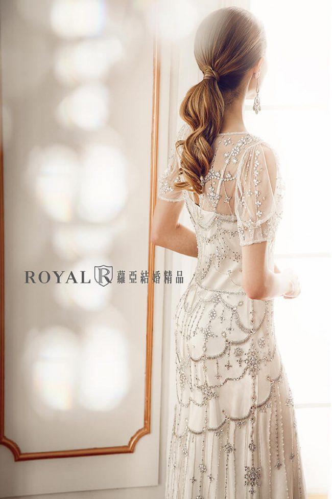 婚紗禮服款式-短袖婚紗-手工婚紗-古董婚紗