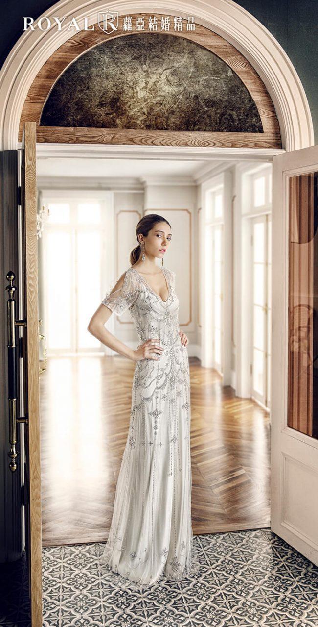 婚紗禮服款式-短袖婚紗-手工婚紗-古董婚紗-a line婚紗