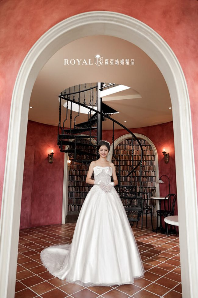 婚紗禮服款式-蓬裙婚紗-公主風婚紗-蝴蝶結婚紗