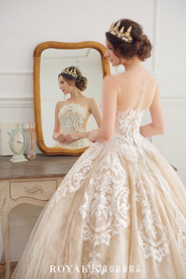 婚紗禮服款式-蓬裙婚紗-古典婚紗-蕾絲白紗-歐式婚紗