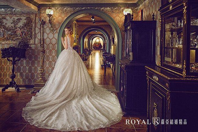 婚紗禮服款式-蓬裙婚紗-婚紗款式2019-蓬裙白紗-進場白紗