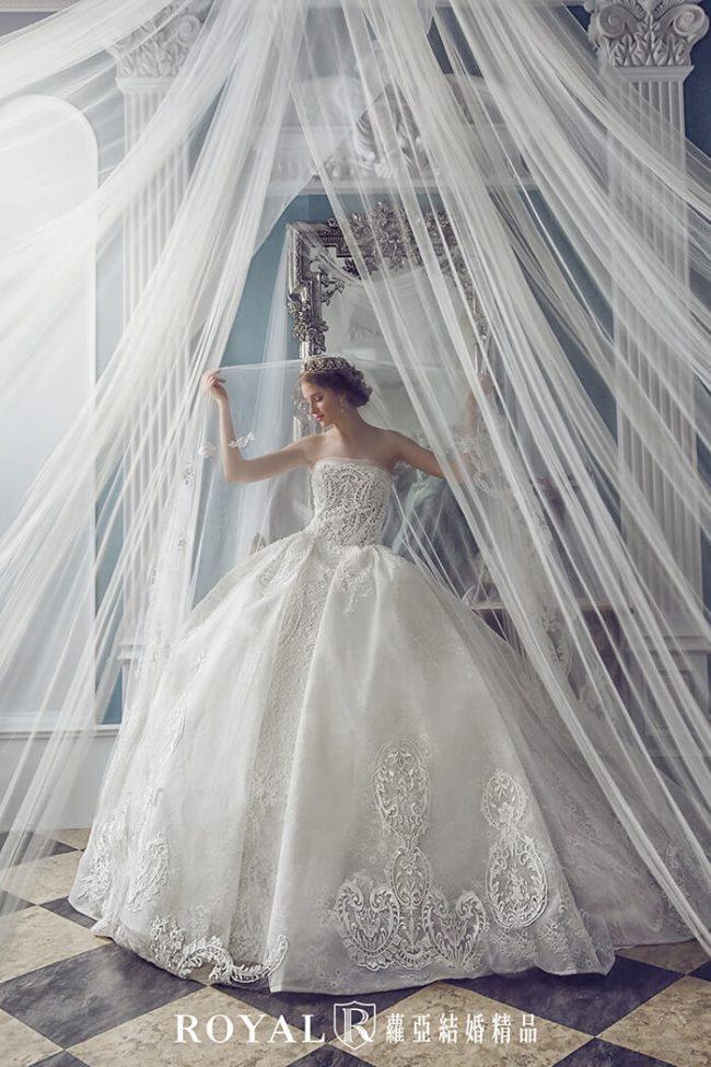 婚紗禮服款式-蓬裙婚紗-平口婚紗-澎裙白紗-婚紗款式2020