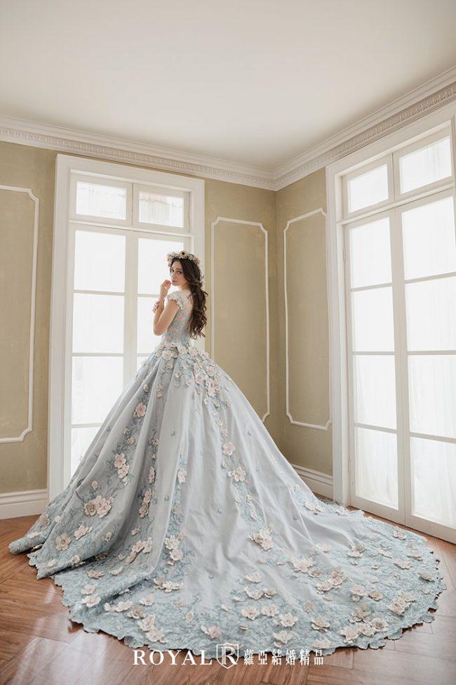 婚紗禮服款式-蓬裙婚紗-手工婚紗-宮廷婚紗-婚紗款式2019