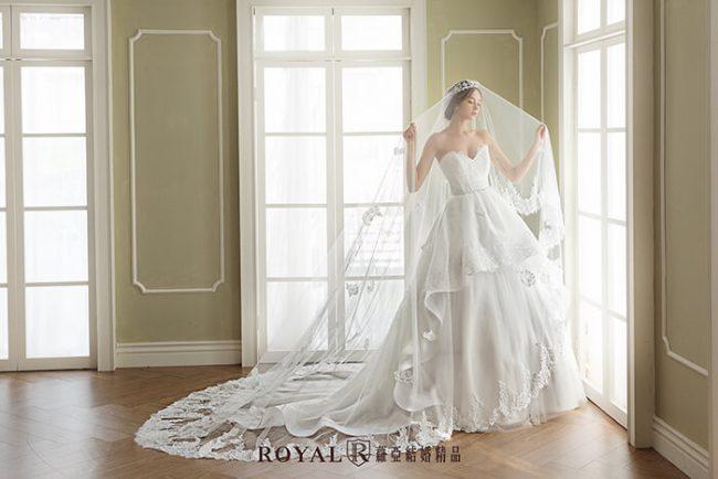 婚紗禮服款式-蓬裙婚紗-桃心領白紗-輕婚紗