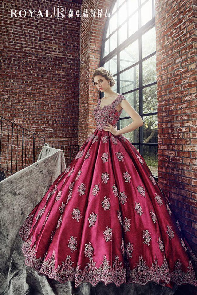 婚紗禮服款式-蓬裙婚紗-桃紅禮服-手工婚紗-婚紗款式2020-美背婚紗-宮廷風婚紗