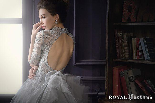 婚紗禮服款式-蓬裙婚紗-灰色禮服-美背婚紗-高領婚紗