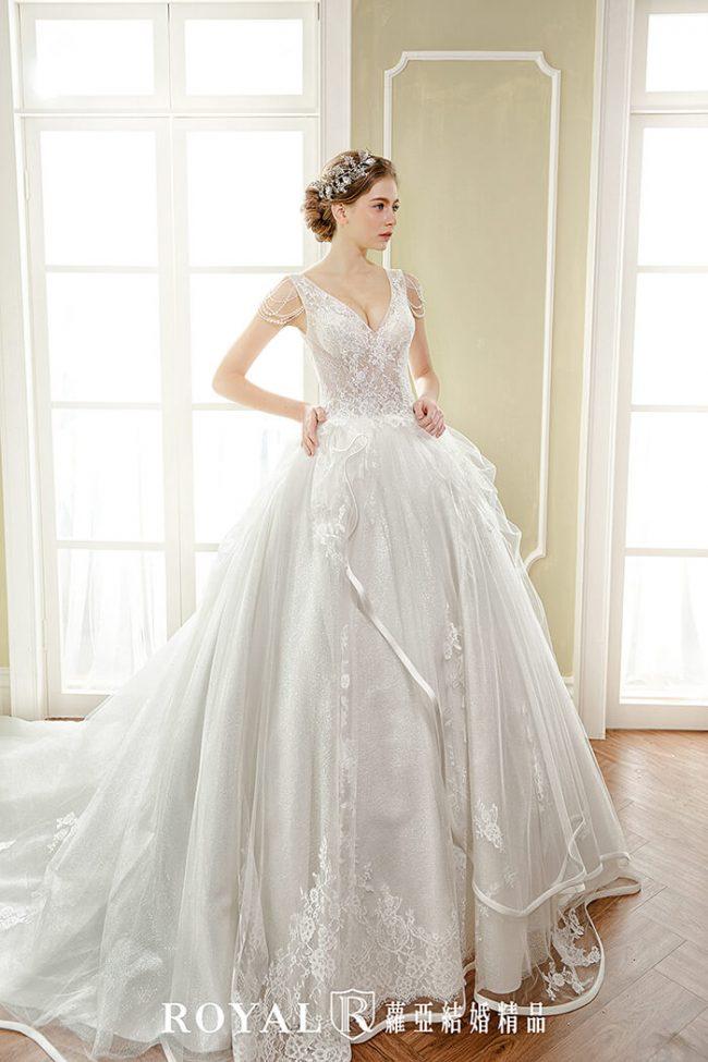 婚紗禮服款式-蓬裙婚紗-白紗婚紗-典雅婚紗-婚紗款式2019