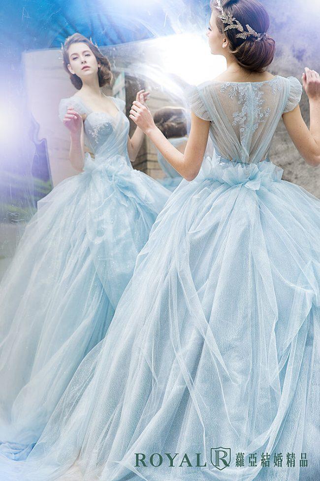 婚紗禮服款式-蓬裙婚紗-粉藍禮服-甜美婚紗-公主風婚紗