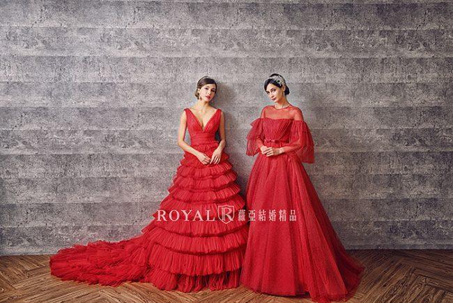 婚紗禮服款式-蓬裙婚紗-紅色禮服-婚紗款式2020