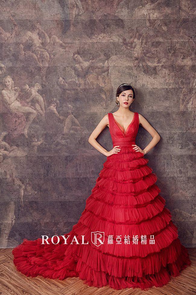 婚紗禮服款式-蓬裙婚紗-紅色禮服-手工婚紗-婚紗款式2020