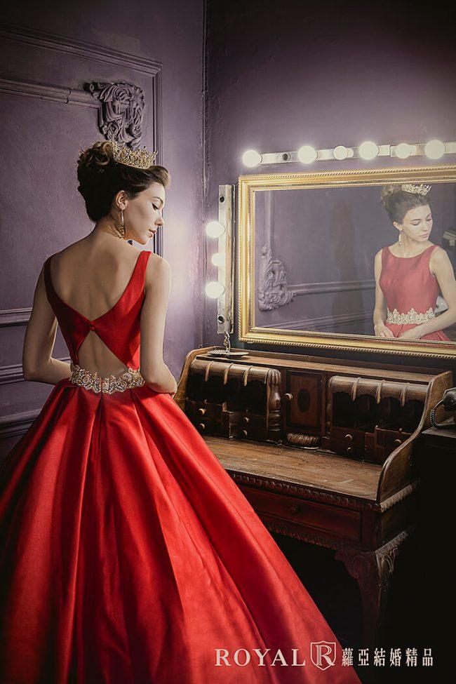 婚紗禮服款式-蓬裙婚紗-紅色禮服-緞面禮服-美背禮服-歐式婚紗