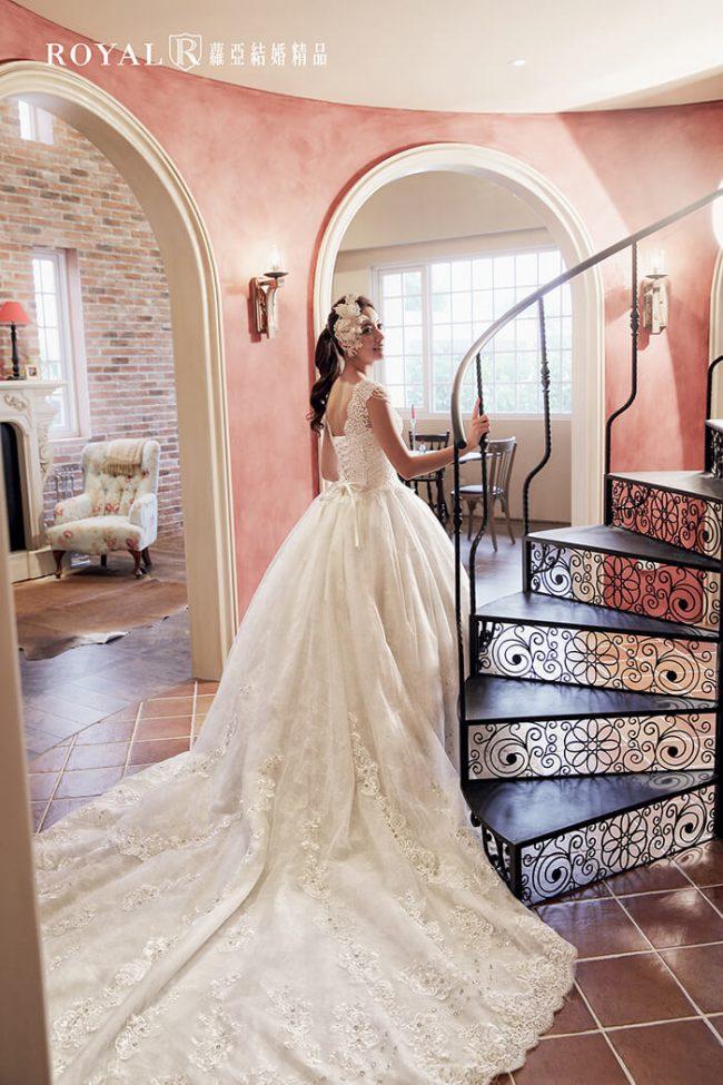 婚紗禮服款式-蓬裙婚紗-蓬裙白紗-婚紗款式2019-宮廷風婚紗