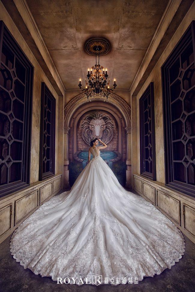 婚紗禮服款式-蓬裙婚紗-蓬裙白紗-蕾絲婚紗-進場白紗-婚紗款式2019