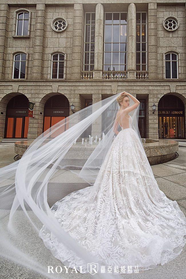 婚紗禮服款式-蓬裙婚紗-輕婚紗-美背婚紗-婚紗款式2020