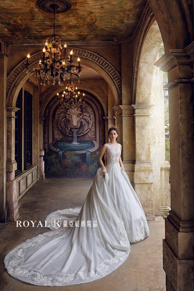 婚紗禮服款式-蓬裙婚紗-長拖尾白紗-婚紗款式2019-手工婚紗