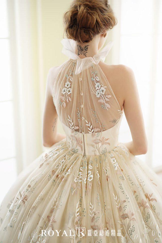 婚紗禮服款式-蓬裙婚紗-高領婚紗-削肩婚紗-婚紗款式2020-手工婚紗