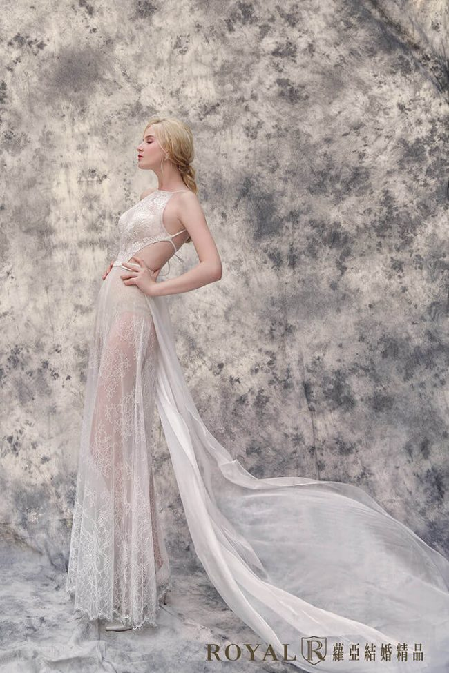 婚紗禮服款式-裸紗婚紗-削肩婚紗-褲裝婚紗-時裝婚紗
