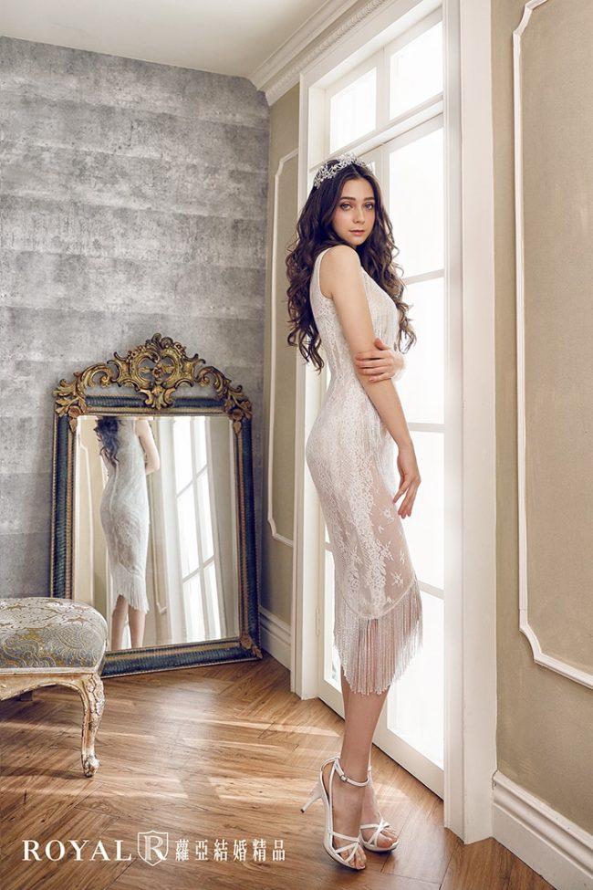 婚紗禮服款式-裸紗婚紗-短裙婚紗-手工禮服-流蘇婚紗-時裝婚紗