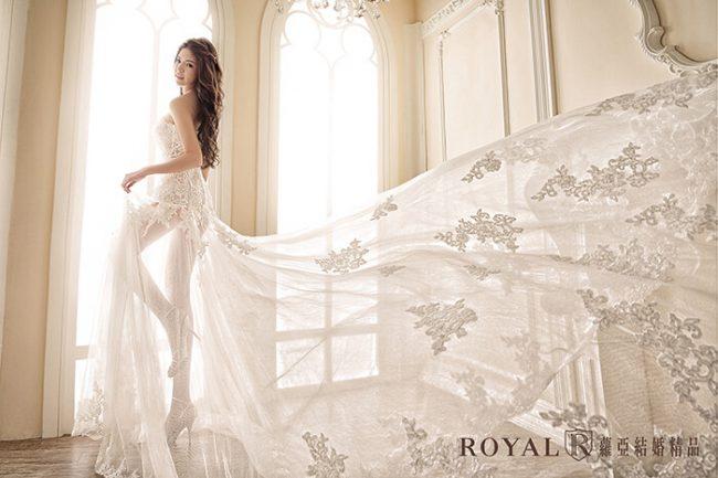 婚紗禮服款式-裸紗婚紗-裸紗白紗-蕾絲婚紗