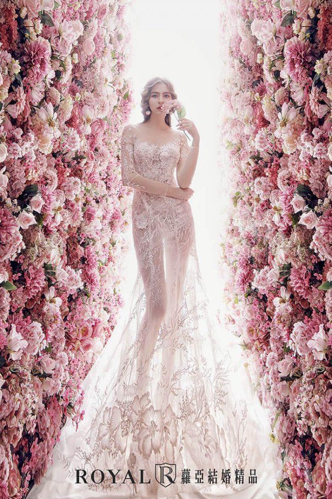 婚紗禮服款式-裸紗婚紗-長袖婚紗-魚尾婚紗-手工禮服-婚紗款式2020