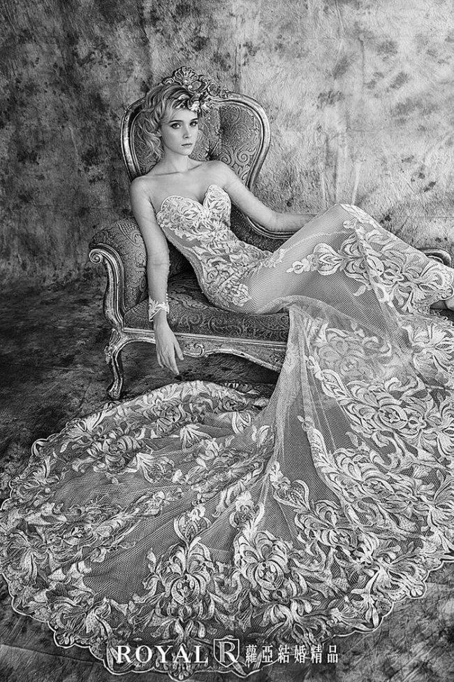 婚紗禮服款式-裸紗婚紗-魚尾婚紗-古典婚紗-婚紗款式2019 (2)