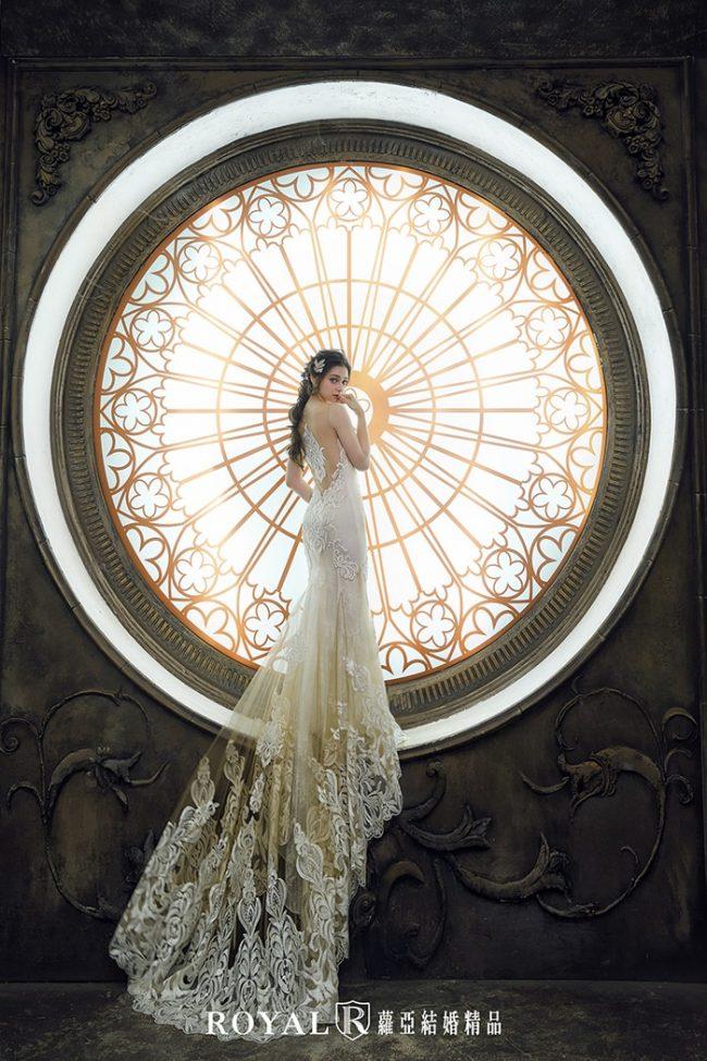 婚紗禮服款式-裸紗婚紗-魚尾婚紗-婚紗款式2019-古典婚紗
