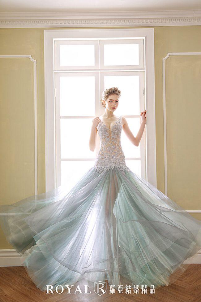 婚紗禮服款式-裸紗婚紗-魚尾婚紗-手工婚紗-婚紗款式2020