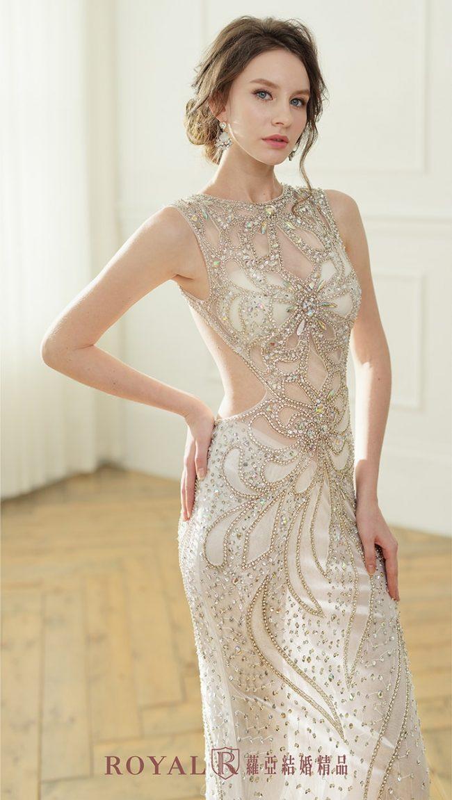婚紗禮服款式-裸紗婚紗-魚尾婚紗-美背婚紗-婚紗款式2020