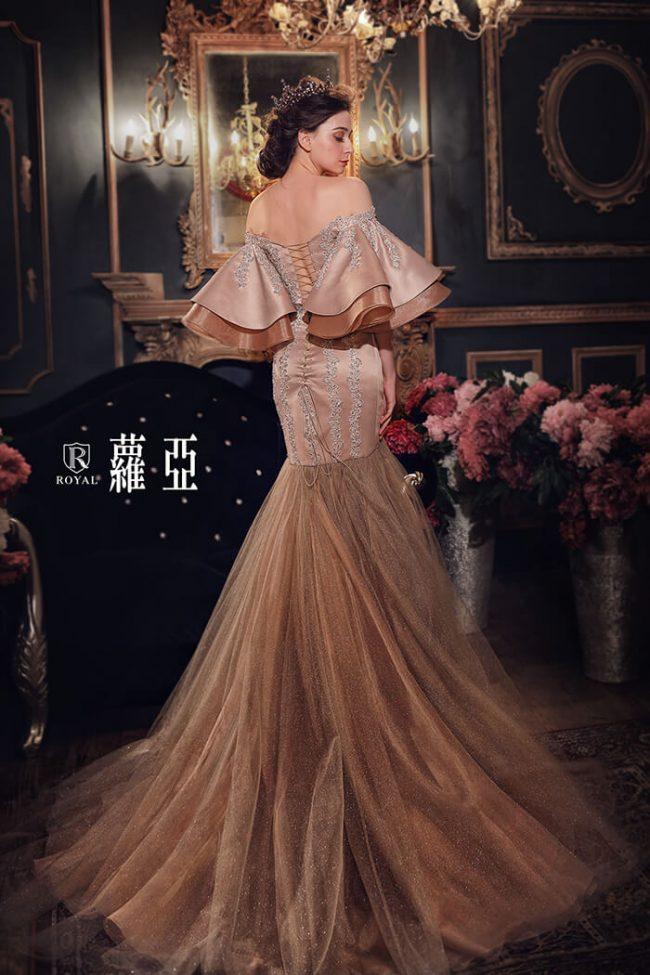 婚紗禮服款式-魚尾婚紗-特殊袖型-手工婚紗-時裝款式-婚紗禮服2020