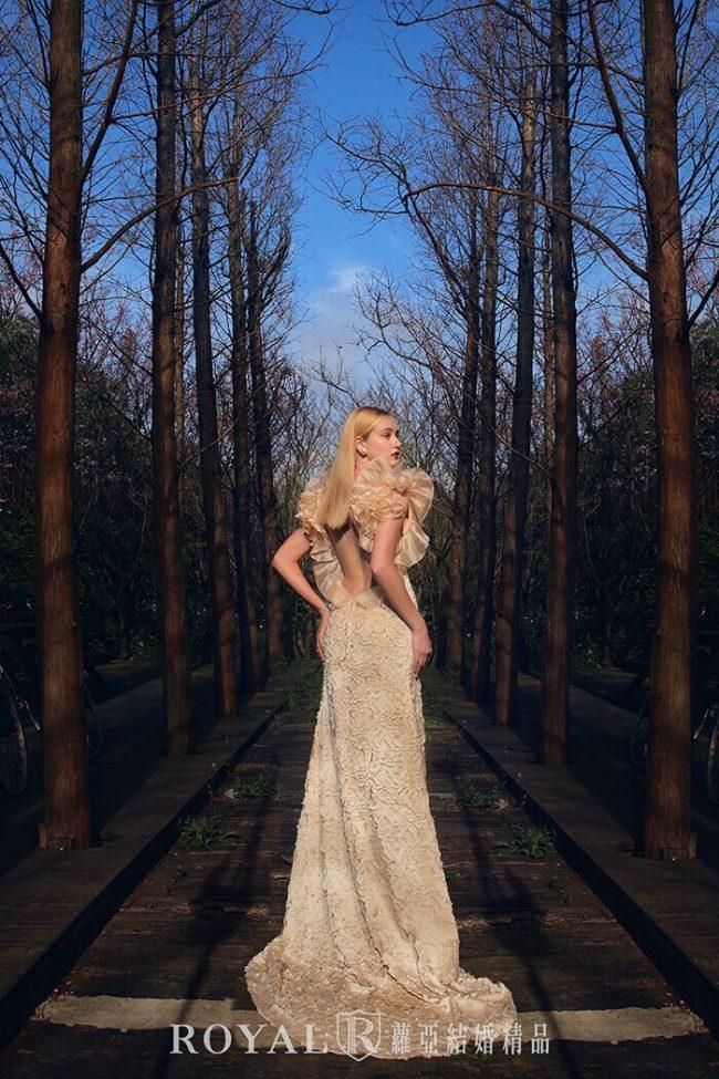 婚紗禮服款式-魚尾婚紗-特殊袖型-露背婚紗-婚紗款式2020