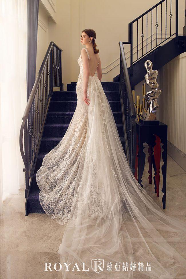 婚紗禮服款式-魚尾婚紗-蕾絲白紗-手工婚紗-美背婚紗-婚紗款式2020
