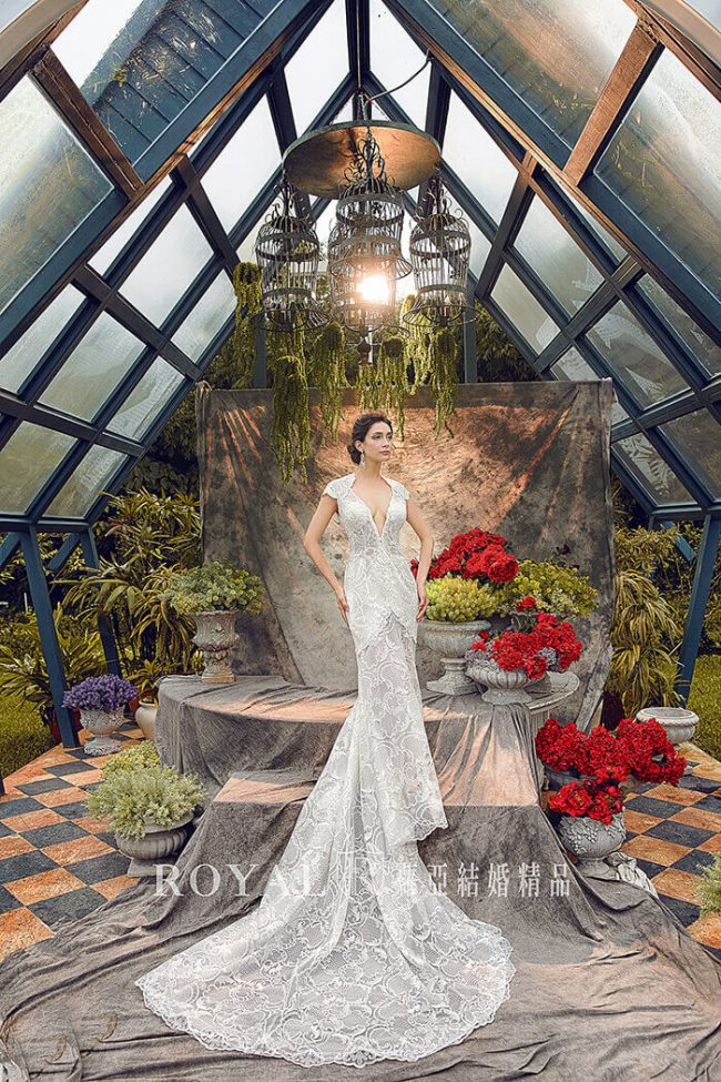 婚紗禮服款式-魚尾婚紗-魚尾白紗-古典婚紗-手工婚紗