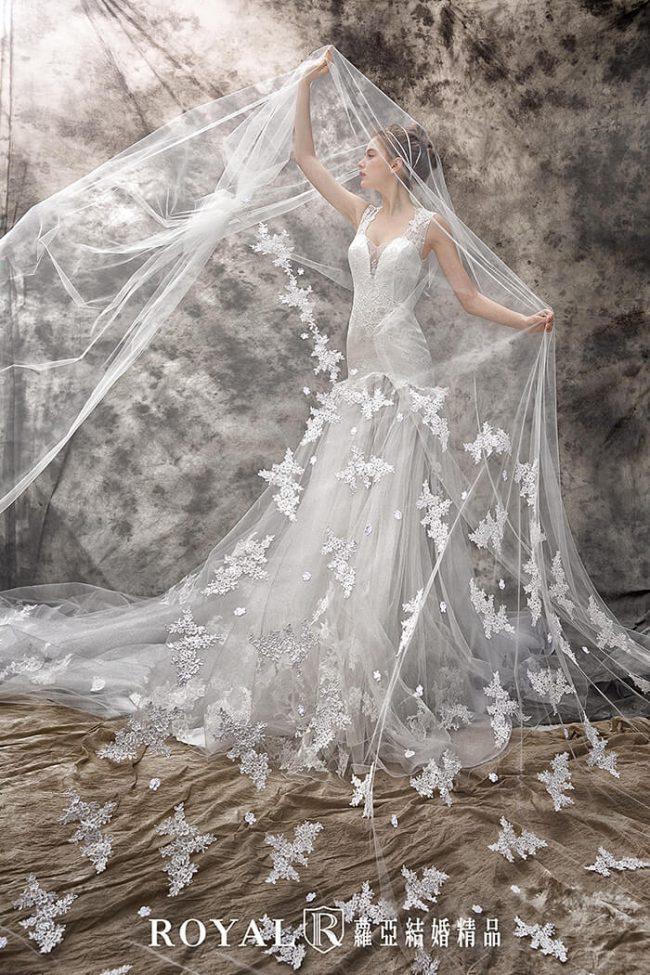 婚紗禮服款式-魚尾婚紗-魚尾白紗-手工禮服