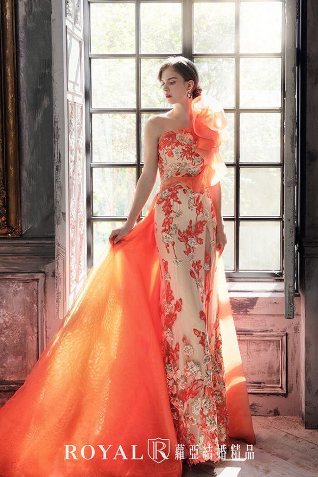 婚紗禮服款式-魚尾婚紗-魚尾禮服-婚紗款式2020-手工婚紗