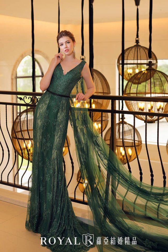 婚紗禮服款式-魚尾婚紗-魚尾禮服-婚紗款式2020