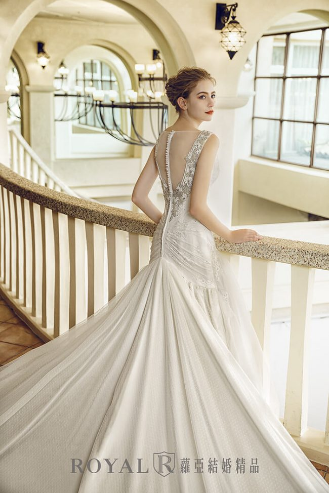 婚紗禮服款式-魚尾白紗-古典婚紗-魚尾婚紗-手工婚紗
