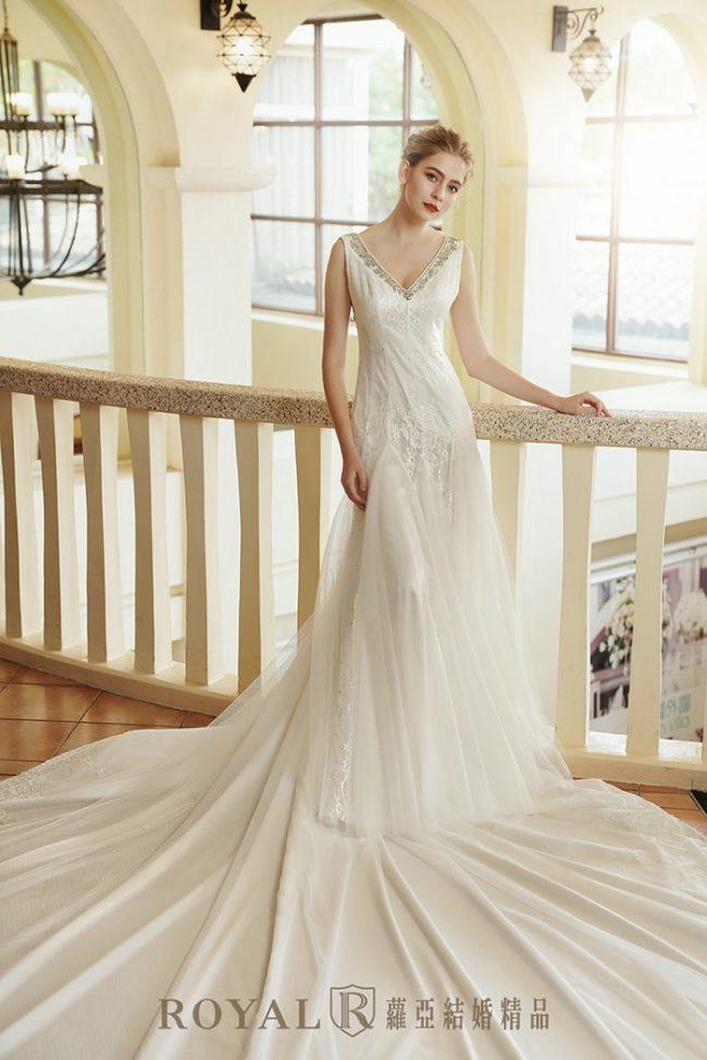 婚紗禮服款式-魚尾白紗-魚尾婚紗-手工婚紗-古典婚紗