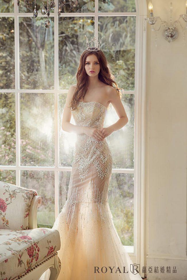 婚紗禮服款式-魚尾禮服-魚尾婚紗-手工婚紗