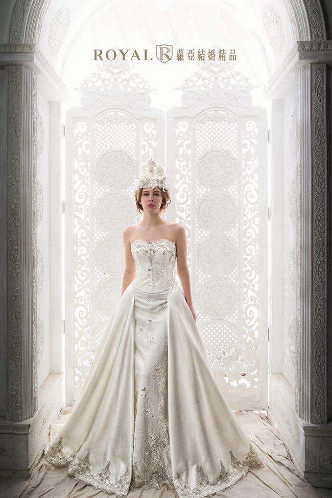 婚紗禮服款式-a line婚紗-古典婚紗-手工婚紗-緞面婚紗