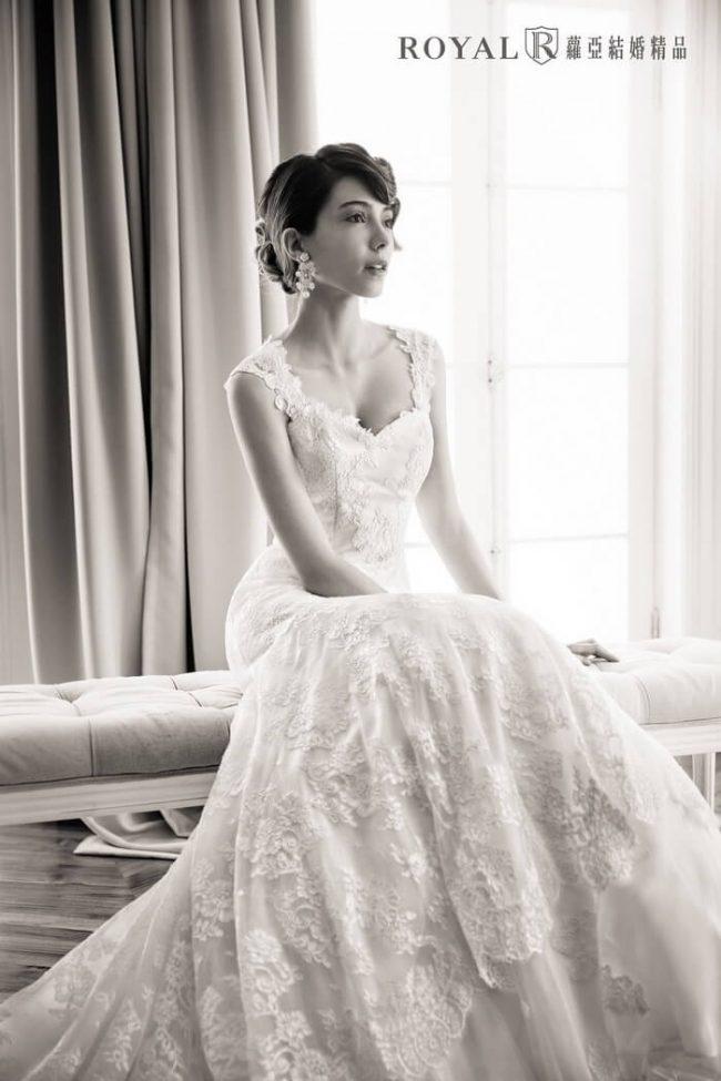 婚紗禮服款式-a line婚紗-古典婚紗-手工婚紗