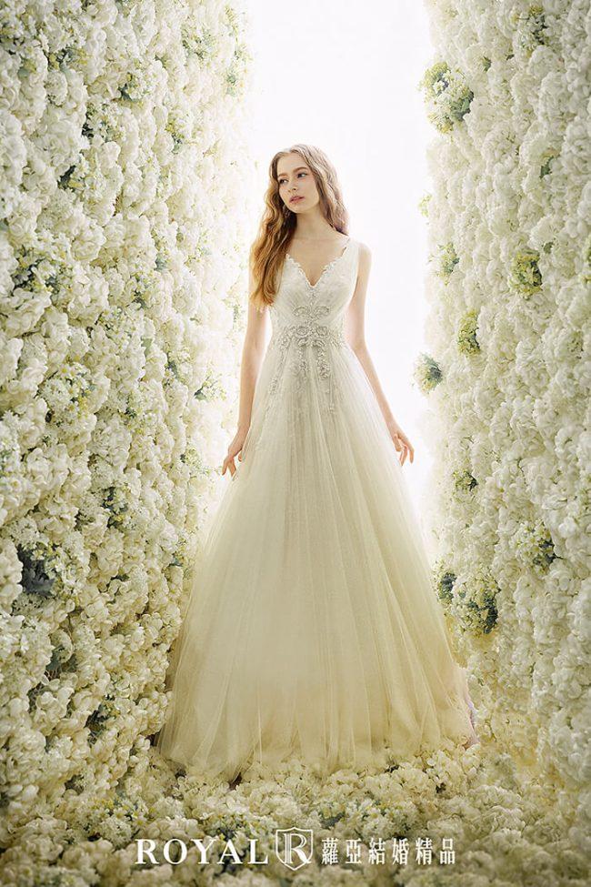 婚紗禮服款式-a line婚紗-手工白紗-手工婚紗-婚紗款式2019