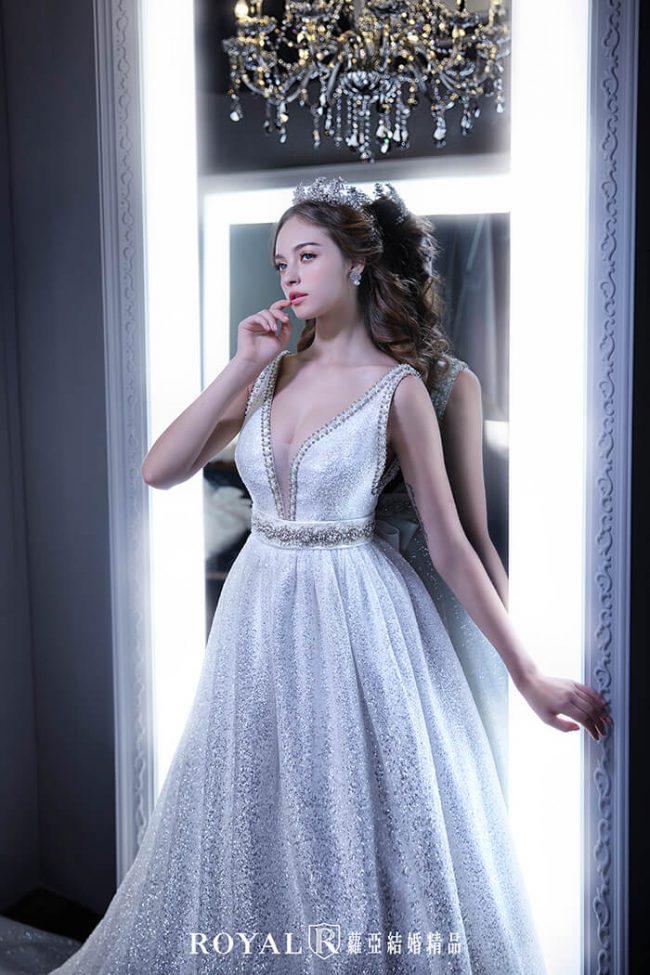 婚紗禮服款式-a line婚紗-手工白紗-手工婚紗-讚石紗婚紗-婚紗款式2020