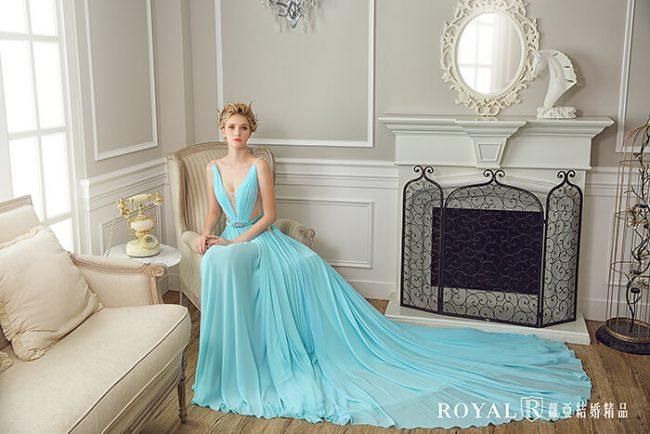 婚紗禮服款式-a line婚紗-水藍禮服-手工婚紗-婚紗款式2020