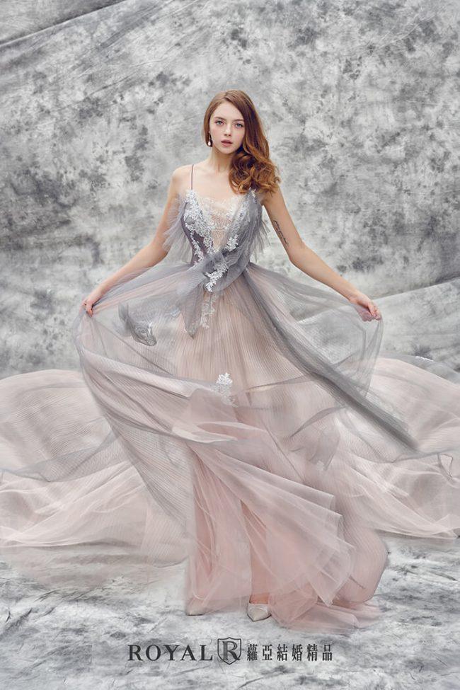 婚紗禮服款式-a line婚紗-法式禮服-仙氣婚紗