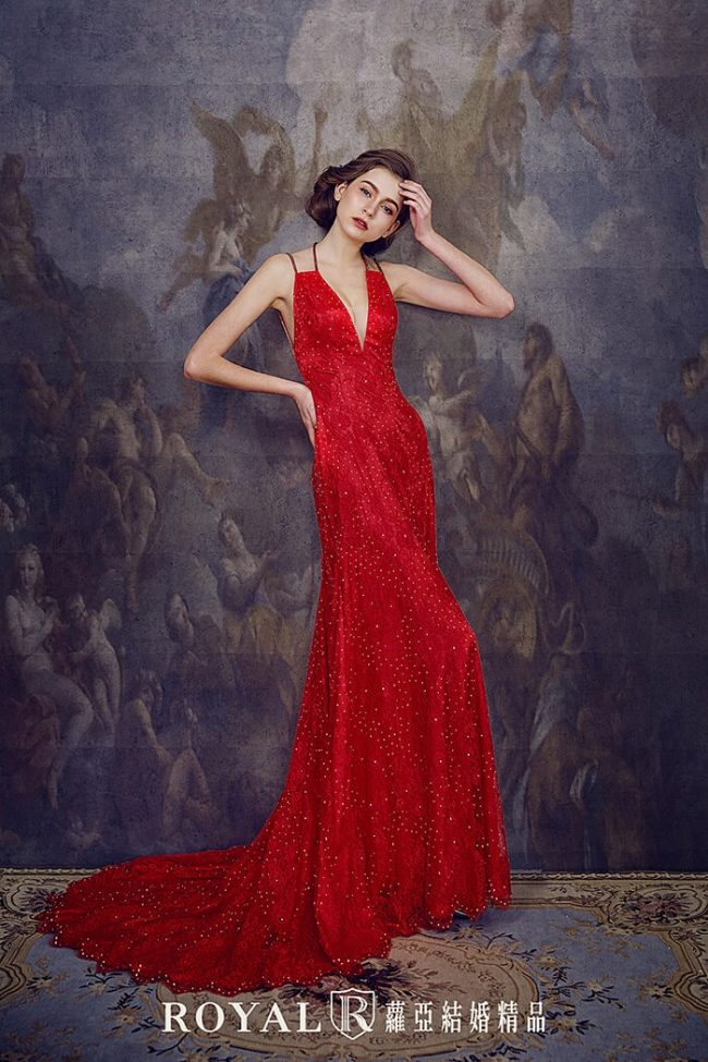 婚紗禮服款式-a line婚紗-紅色禮服-時裝禮服